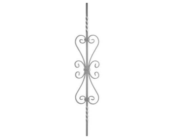 Panel With Scrolls & Twists - Italian Wrought Iron