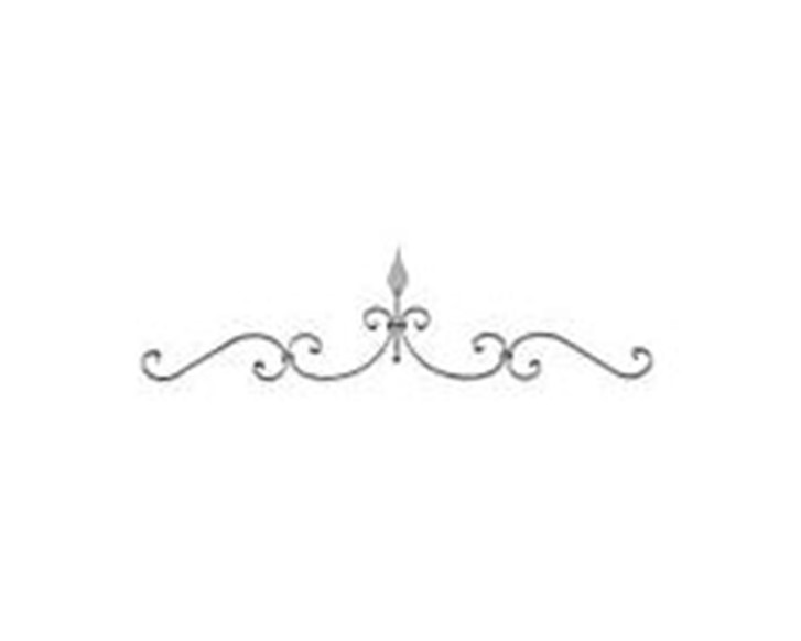 Gate Top With Spearhead - Italian Wrought Iron