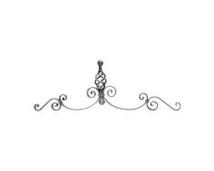 Gate Top With Basket - Italian Wrought Iron