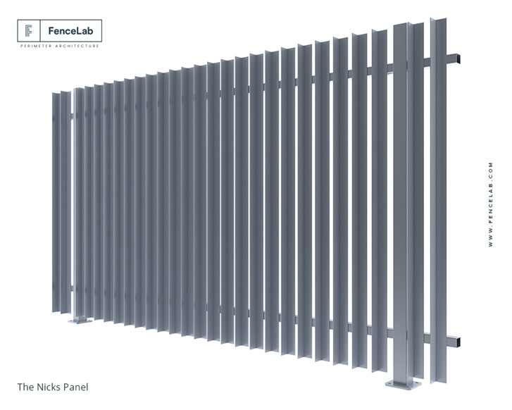 FenceLab - The NICKS Vertically Angle Picket Aluminium Fence
